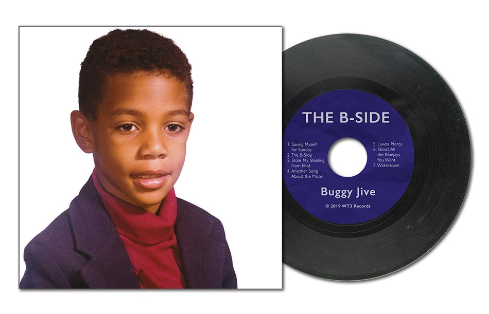 The B-Side album cover and record